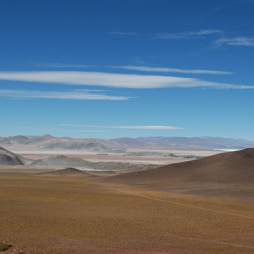 Looking SW from Oculto to Catamarca towards Salar Hombre Muerto with La Ronde community in front